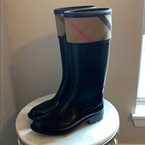 Burberry Crosshill Rain Boots size 38
